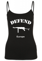 Damen Spaghetti Top ( Defend Europe )