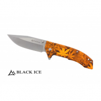 BLACK ICE Einhandmesser Orange