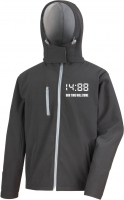 Bestickte Herren Softshell Kapuzenjacke ( 1488 Our time will come )