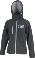 Bestickte Damen Softshell Kapuzenjacke ( 1488 Our time will come )
